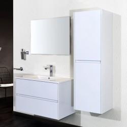 Banio meuble de salle de bain avec miroir Hayat 60cm - blanc
