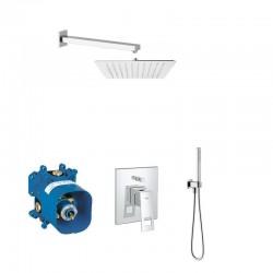 Grohe pack robinetterie encastrée pour douche design carré - chrome