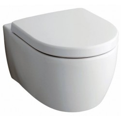 Geberit Icon WC à fond creux suspendu Sans bride 6l avec abattant soft-close icon Slim - Blanc