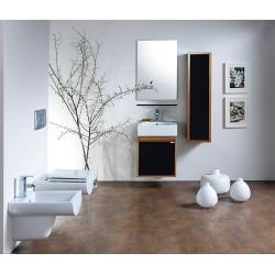 Banio ensemble meuble de salle de bain Mass50 - chêne/noir