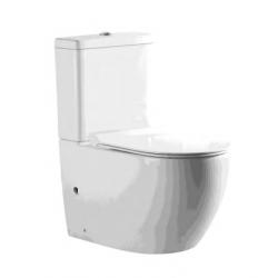 Banio-Gorik Staand toilet compleet Rimless met softclose bril Wit