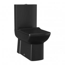 Banio Lara toilette sur pied noir mat complet