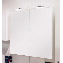 Banio armoire miroir Diane - 60cm blanc