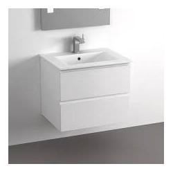 meuble de salle de bain AIDA blanc laqué
