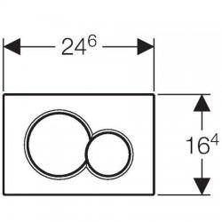 Plaque de déclenchement Geberit Sigma01 à 2 touches