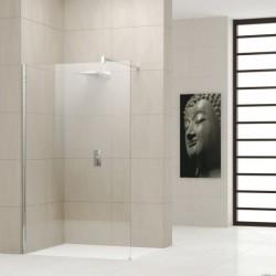Novellini  giada h 60  verstelbaar van 58-59,5 cm helder glas  profielen in matchroom