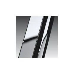 Novellini  Giada 2b paroi fixe cm  extensible cms 66-69 verre trempe transparent  profilé chrome