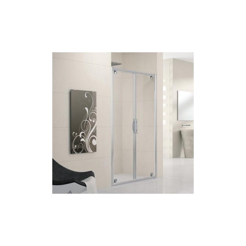 Novellini lunes b 114 2 portes extensible de 114 120 vitrage brosse profil - Porte de douche extensible ...