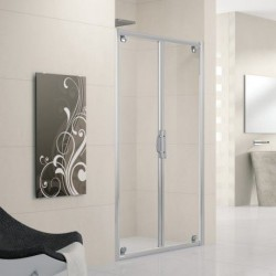 Novellini lunes b 90 2 portes extensible de 90 96 cms verre trempe transparent - Porte de douche extensible ...