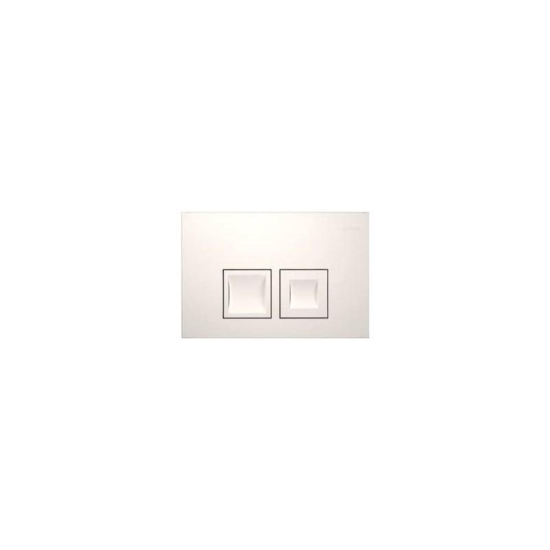 """Geberit Delta50  à 2 touches """"carrée"""" blanc alpin"""