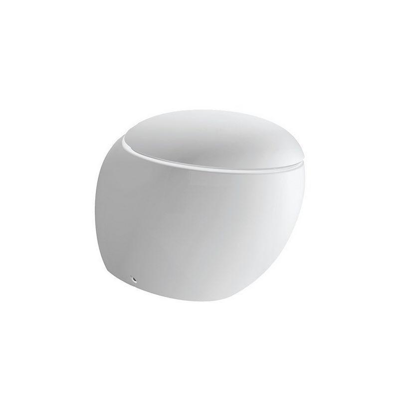 wc suspendu laufen alessi blanc fond creux