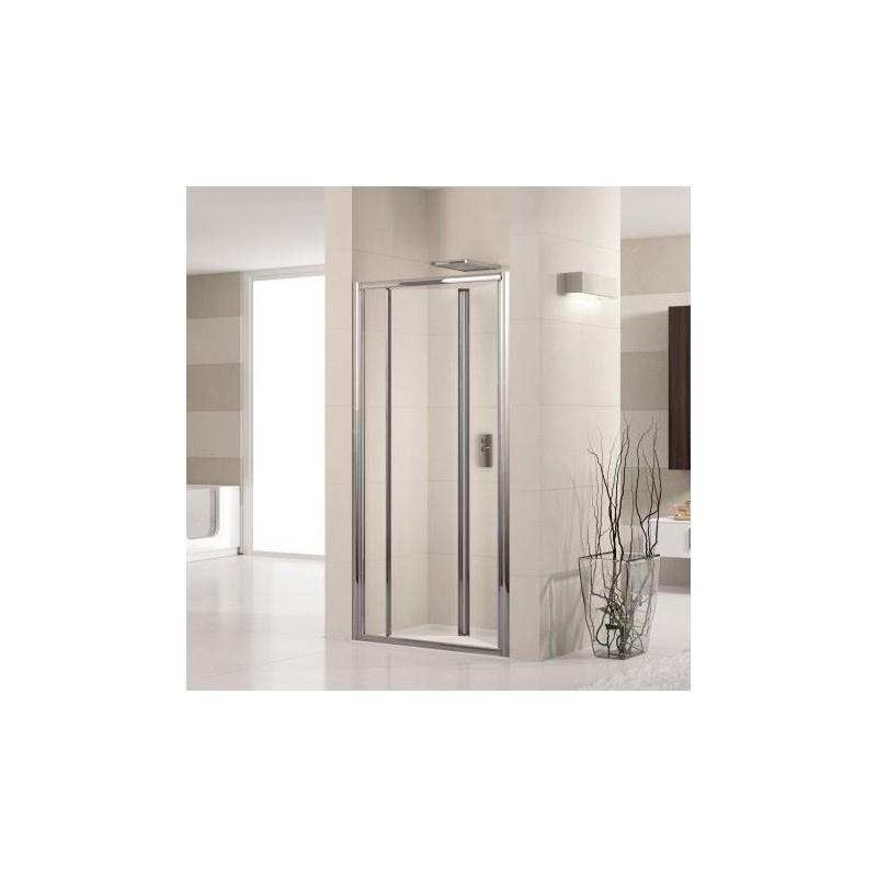 novellini lunes s 72 porte pliante cm verre trempe transparent profil blanc luness72 1d. Black Bedroom Furniture Sets. Home Design Ideas