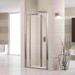 Novellini  lunes s 78 porte pliante est.78-84 cm verre trempe transparent  profilé blanc