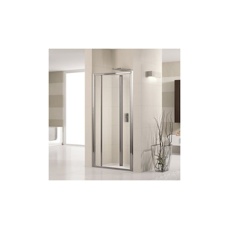 novellini lunes s 84 porte pliante cm verre trempe transparent silver luness84 1b. Black Bedroom Furniture Sets. Home Design Ideas