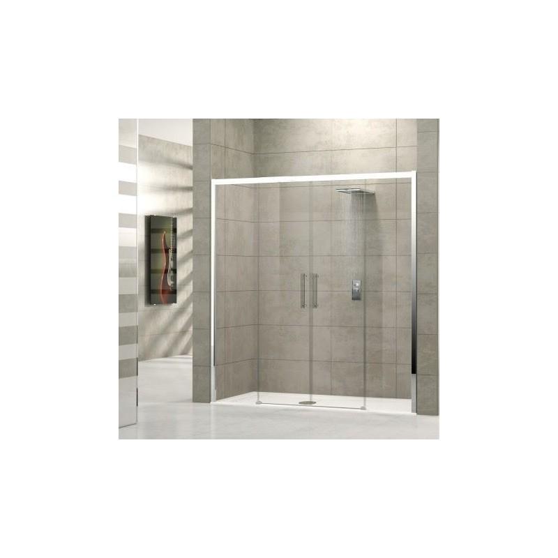 novellini rose 2a 146 extensible 146 152 cm vitrage satin profil blanc rose2a146 4d. Black Bedroom Furniture Sets. Home Design Ideas