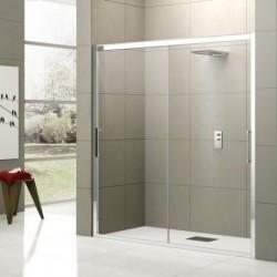 Novellini  rose 2m 116 dimension extensible de  116-122 cm verre trempe transparent  profilé blanc