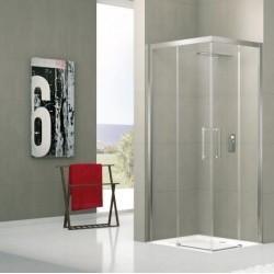 Novellini  rose a 115 hoekinstap 114-117 cm helder glas  profielen in matchroom