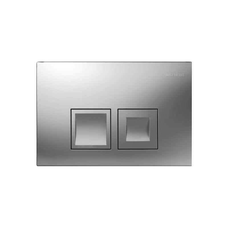 """Geberit Delta50  à 2 touches """"carrée"""" Chromé"""