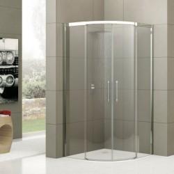 Novellini  rose r 80x80 cm verre trempe transparent  profilé blanc
