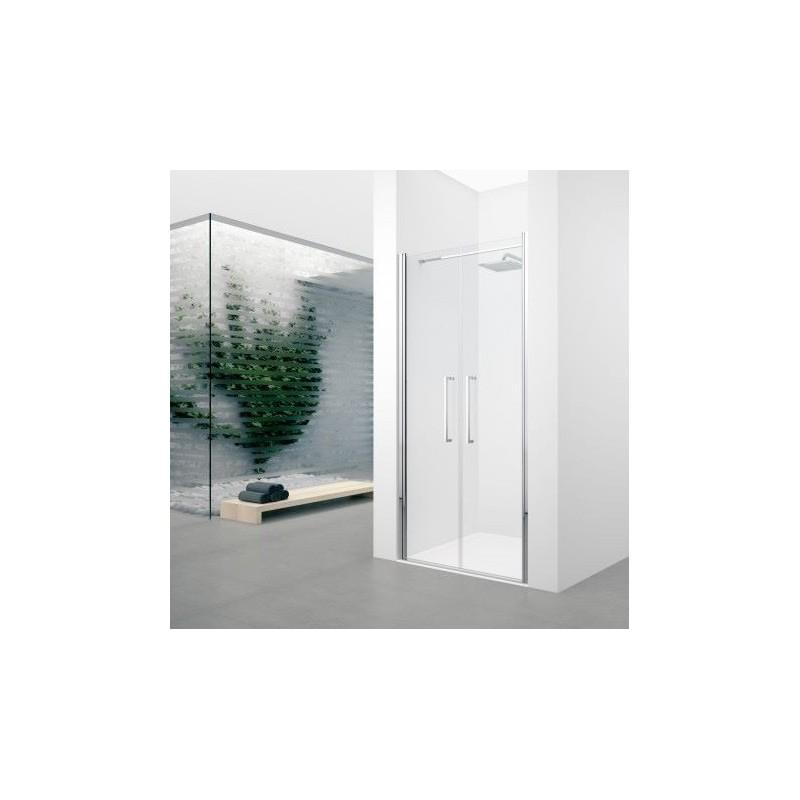 Novellini young 2 2b 117 dimension extensible de 117 121cm verre trempe transparent silver - Porte de douche extensible ...