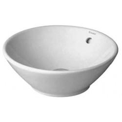 LAVABO EMBOUT DURAVIT BACINO 42 CM blanc sans trou de robinet - avec trop-plein
