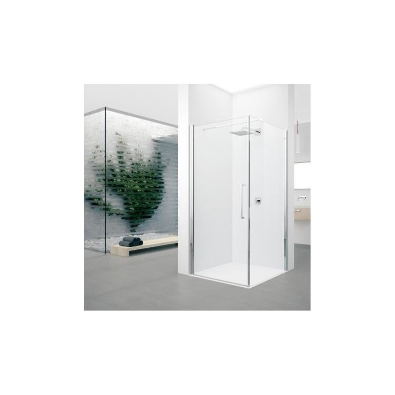 Novellini young 2 g 97 porte pivotante dimension extensible de 97 99cm verre trempe transparent - Porte de douche extensible ...