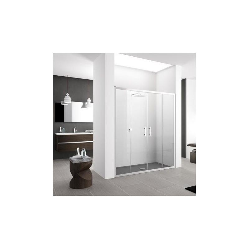 novellini zephyros 2a 146 extensible 146 152 cm verre trempe transparent silver zephyr2a146 1b. Black Bedroom Furniture Sets. Home Design Ideas