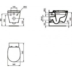 WC suspendu Ideal standard Connect RIMLESS