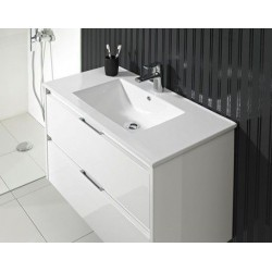 Meuble de salle de bain Calypos blanc laqué