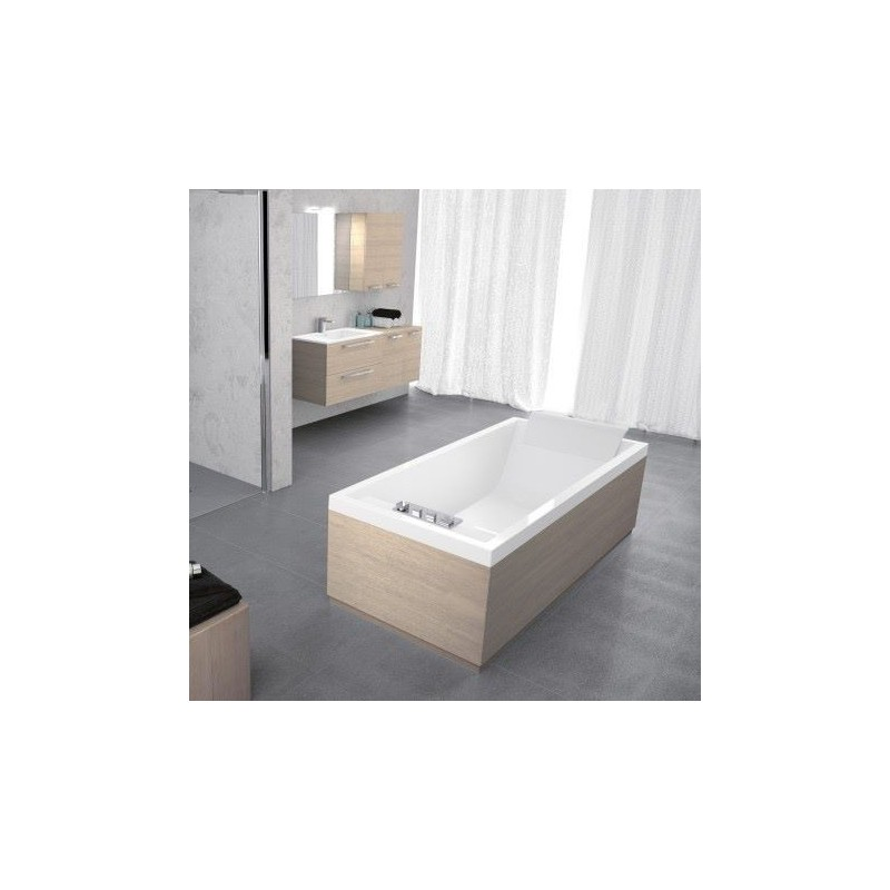 novellini sense 4 180x80 avec cadre blanc 1 tablier. Black Bedroom Furniture Sets. Home Design Ideas