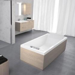 Novellini  sense 4 190x80 m.frame wit mat zond.zijpan