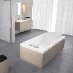 Novellini  Sense 3 3 170x70 inbownkraan wit mat