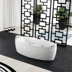 Novellini  Sense5 x1 190x90 a encastrer avec  robinetterie sur la baignoire  blanc sans tablier  finition chrome