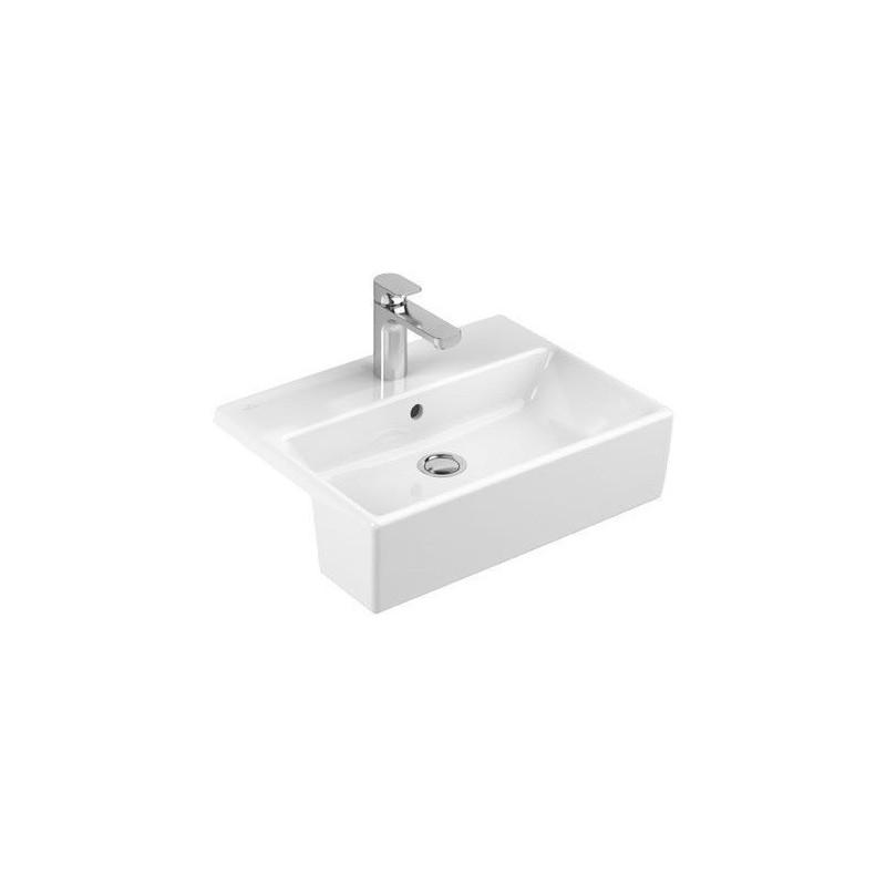 villeroy boch memento vasque semi encastr e blanc 41335501. Black Bedroom Furniture Sets. Home Design Ideas